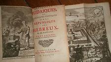 Juif les antiquitez judaïques 1713 républiques des hebreux BASNAGE