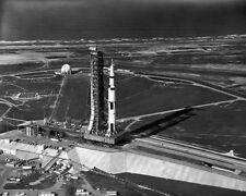 New 8x10 NASA Photo: Apollo 11 Saturn V Rocket on Transporter for Mission Launch