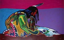 JOHN NIETO-TX/NM/CO Artist-Signed/#'d Lim.Ed Color Litho-Native American Man