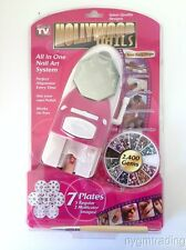 HOLLYWOOD NAILS ALL IN ONE PROFESSIONAL NAIL ART SYSTEM KIT - FREE SHIPPING