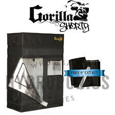 "Gorilla Grow Tent SHORTY 2' x 4' x 4' 11"" GGT w/ FREE 9"" Height Extension"