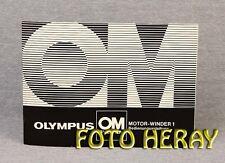 Olympus Motor Winder 1 , OM System, nur die originale Bedienungsanleitung 02401