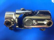 "1"" DD X 3/4"" DD Stainless Steel Univ Steering U Joint Hot Rod GM Ford Mopar"