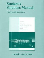 Student Solutions Manual for Introductory Mathematical Analysis for Business, ..