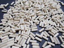 300pcs 12mm x 4mm WOODEN Spacer Tube Beads NATURAL UNPAINTED  WOOD Jewellery