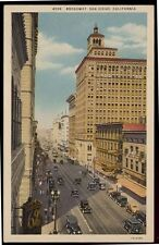 1931 SAN DIEGO CA Broadway Bank old Cars postcard