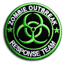 Zombie Outbreak Hunter Response Team Bio Hazard Patch Embroidered Iron on Badge