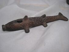 NORTH AMERICAN CLAY PIPE BOWL, FISH EFFIGY DESIGN PIPE BOWL....CHI-279