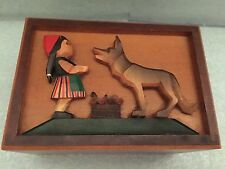 Thorns Music Box Lara's Theme  Vintage Little Red Riding Hood With Big Bad Wolf
