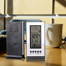 Indoor Outdoor Wireless Weather Station Digital Alarm Clock Forecast Calendar