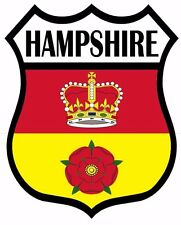 1 x Hampshire Hants Flag Decal Car Motorbike Laptop Window Sticker Static Cling
