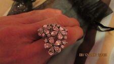 Bisutería Anillo Cocktail-diamante en forma de corazón, anillo de declaración