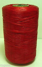 SINEW / Sinue leather thread beading crafts RED