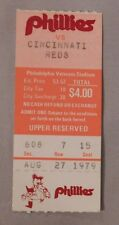 1979 Philadelphia Phillies Vs Reds Ticket Stub 8/27/79