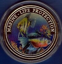 Liberia 1996 Large Color $1 Tropical Fish