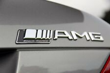 AMG Boot Trunk Badge Emblem Sticker Chrome Silver Black Series for Mercedes C SL
