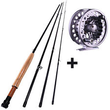 Fly Fishing Rod Four Section 2.7m/8.85ft Fishing Pole and Reel Combos Tackle Set