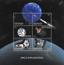 Space Exploration 6v Stamp Sheet (1999 Grenada/Hubble Telescope/Sputnik/Telstar)