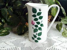 """Arzberg Germany Grand Prix Triennale Mailand Water Pitcher Pink Rose 7.5"""" Tall"""