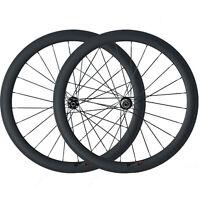 50mm Clincher Carbon Wheels Bike 3K Cyclocross Disc Brake Road Bike Wheelset