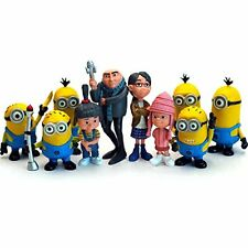 10x Despicable Me Mini Figures 2.5'' Gift Toys Gru Minions Margo Agnes Edith