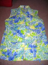 LADIES KMART SLEEVELESS BUTTON FRONT SHIRT BLOUSE SIZE 36