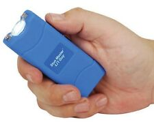 12 Million Volt Rechargeable POLICE BLUE KEYRING Mini Stun Gun w/ taser HOLSTER