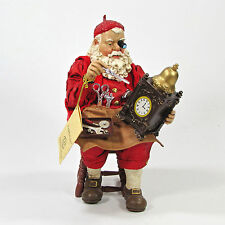 "KSA Collectibles Fabriche 9"" SANTA CLOCK MAKER W5875/PW Mint In Box Rare HTF"
