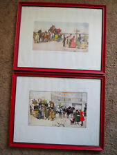 LUDOVICI Dickens Prints RAPHAEL TUCK & SONS' Nicolas Nickleby MR PECKSNIFF Pair!