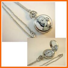 Marilyn Monroe Women Ladies Girl Men Boy Fashion Pocket Watch Necklace + CHARM