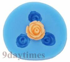 Mini Rose Flower Silicone Mold Mould For Candy Polymer Clay Fimo Craft 12mm A049