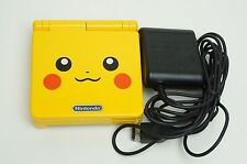 Nintendo Game Boy Advance GBA SP Custom Pikachu Yellow System AGS 001 MINT NEW