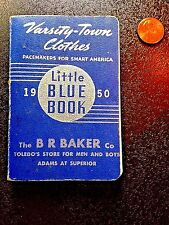 Vintage Little Blue Book Varsity-Town Clothes 1950 college football sports stats