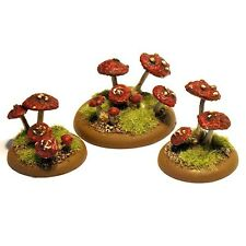 thebattleforge 28mm Fantasy Elf Giant Woodland Mushrooms and Toadstools x15 Pack