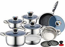 High Quality 16PC Swiss Precision Cookware Set Royalty Stainless Steel 9 Layers