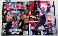 2016 WRESTLEMANIA WWE Magazine Special Edition 98 PAGES The Rock + 2 POSTERS New