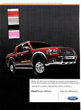 Advertising / Publicité de presse / voiture / FORD RANGER / PICK-UP /