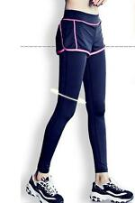 Womens Sport Yoga Running Pants Fitness Gym Clothes Jogging Trousers -L Hot Pink