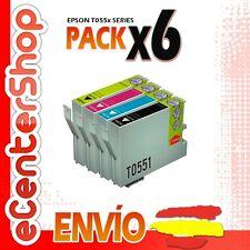 6 Cartuchos T0551 T0552 T0553 T0554 NON-OEM Epson Stylus Photo RX520