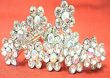 12pcsRhinestoneSilver Plated Flower Crystal,Pearl Hair U Pins,Clips, Accessories