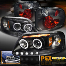Ford F150 SVT Supercrew Harley Halo LED Black Projector Head Light+Smoke Tail