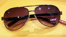 Authentic Levi's Strauss Men Aviator Charcoal Sunglasses 100% UV Protection #8