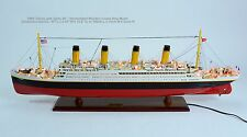 """RMS Titanic White Star Line Handmade Wooden Cruise Ship Model 40"""" with lights"""