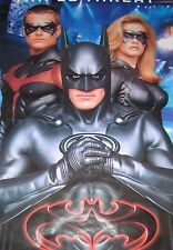 MOVIE POSTER~Batman 1997 Triple Threat  George Clooney Chris O'Donnell Robin~New