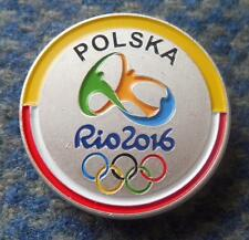 NOC POLAND OLYMPIC RIO DE JANEIRO 2016 LIMITED EDITION PIN BADGE