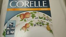 Corelle Impressions Chutney 16-Piece White Dinnerware Set Service for 4 NEW