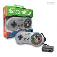 CirKa S91 Super Nintendo SNES Wired Controller for SNES - Super Famicom Style
