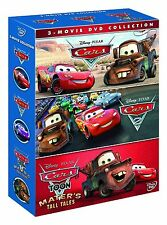 DISNEY CARS THREE MOVIE COLLECTION DVD NEW R2 BOX SET