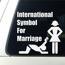 International Symbol For Marriage Car Decal funny bumper sticker money all seein
