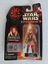 STAR WARS EPISODE 1 RIC OLIE New in blister pack With Helmet and Naboo Blaster